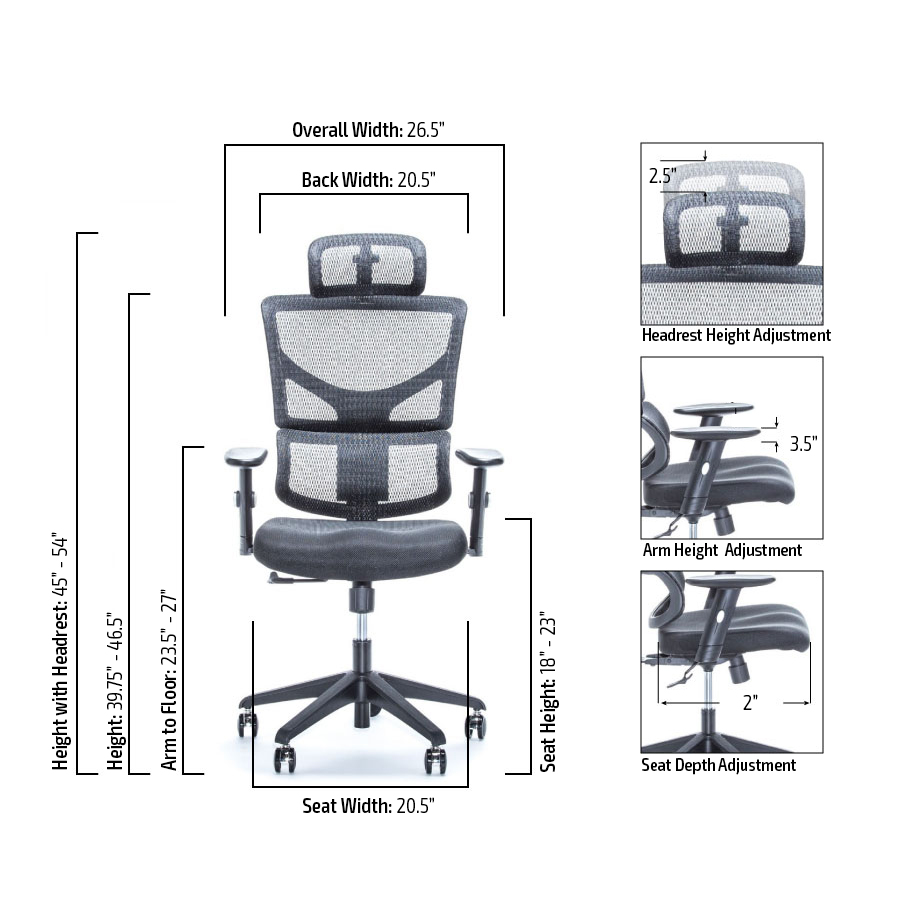 X-Chair Basic Specifications