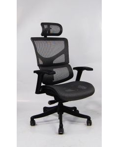 Three quarter angle view Gray X1 Task Chair