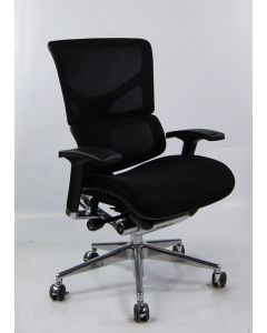 Three quarter angled view White X2 Management Chair